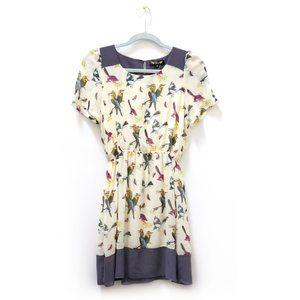 NWOT Bird Print Dress